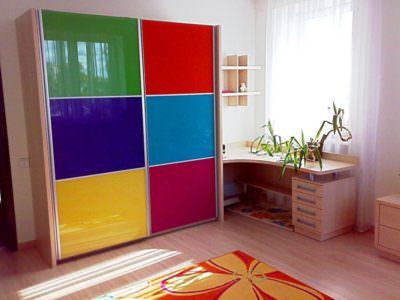 Шкаф-Купе в Детскую комнату+рабочий стол