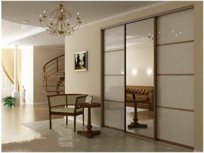 Шкаф-Купе в гостинную  Oracal+Зеркало