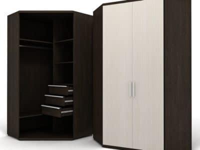Шкаф Угловой с выкатными ящиками
